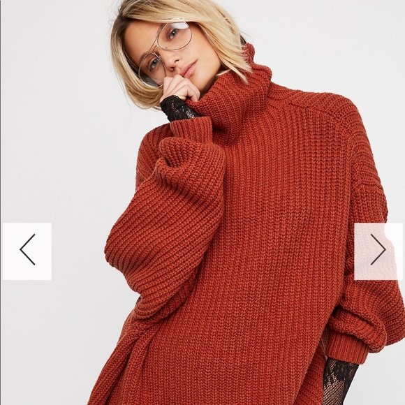 Free People Sweaters Swim Too Deep Pullover Sweater In Terracotta